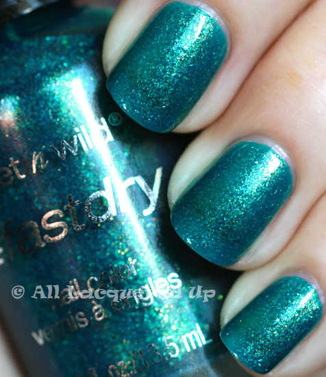 wet n wild teal of fortune nail polish swatch