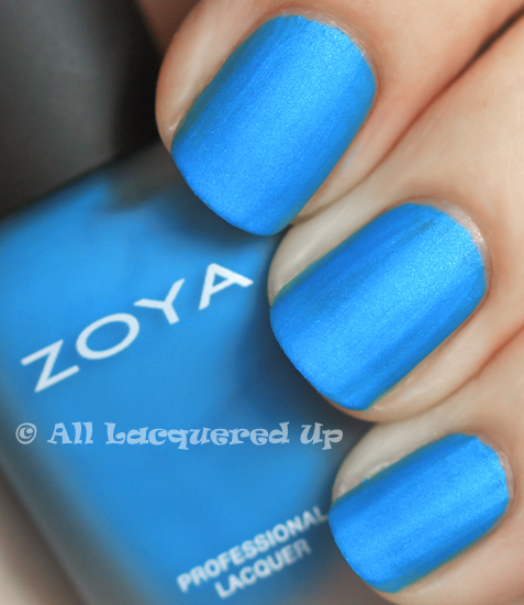 zoya phoebe mod matte nail polish swatch from the zoya modmatte summer 2011 collection