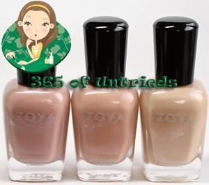 zoya touch collection pandora minka shay ALUs 365 of Untrieds   Zoya Touch Collection Swatches and Review