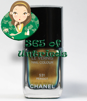 chanel peridot nail polish duochrome fall 2011 ALUs 365 of Untrieds   Chanel Peridot from the Fall 2011 Collection