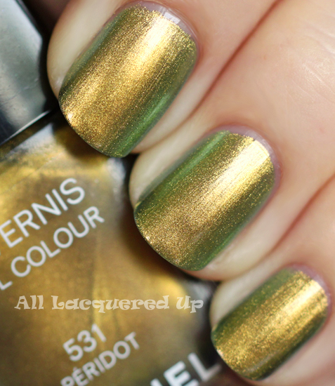 chanel peridot nail polish swatch from the fall 2011 collection
