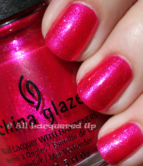 china glaze 108 degrees nail polish swatch sun island escape ALUs 365 of Untrieds   China Glaze 108 Degrees from the Island Escape Collection