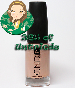 cnd creamy cameo nail polish colour ALUs 365 of Untrieds   CND Creamy Cameo Nail Polish