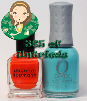 deborah lippmann lara's theme nail polish and orly frisky nail polish from summer 2011