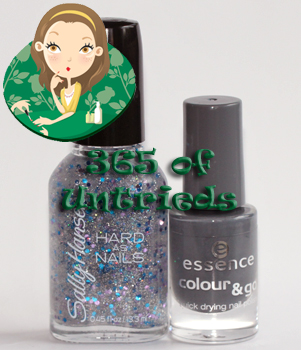 essence movie star nail polish and sally hansen ice queen nail polish