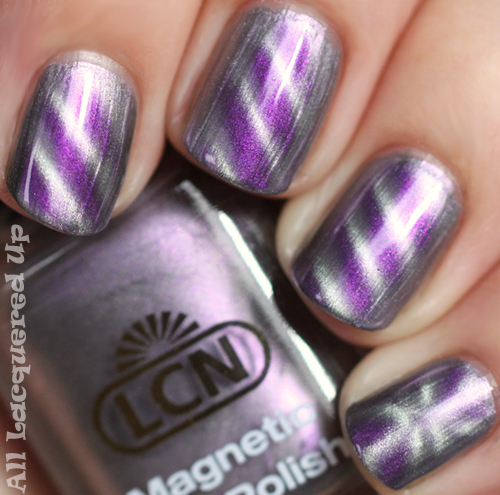 lcn amazing mauve magnetic nail polish swatch