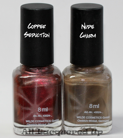 lcn copper seduction and nude charm magnetic nail polish