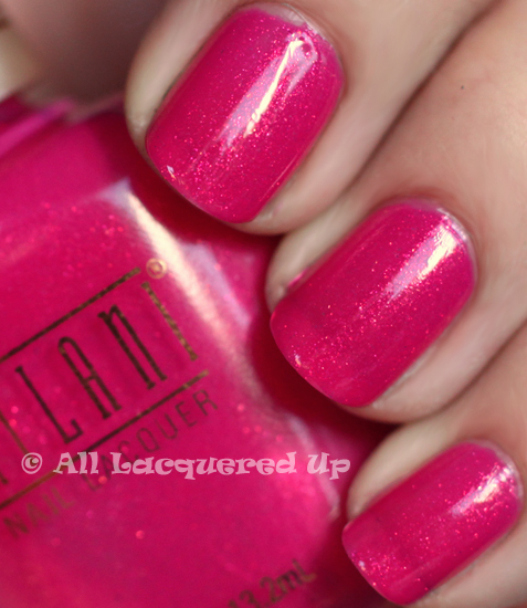 milani pink out loud nail polish swatch