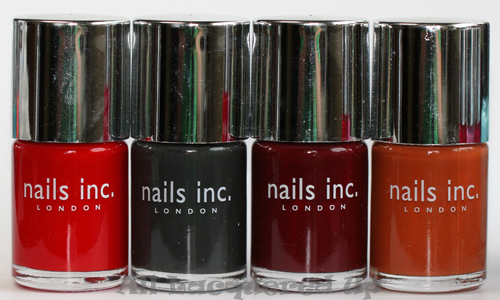 nails inc charing cross, nails inc paddington, nails inc st pancras and nails inc fenchurch street nail polishes from the fall autumn 2011 collection