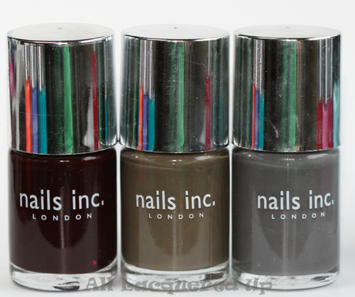 nails inc victoria, nails inc fouberts place and nails inc the thames nail polish