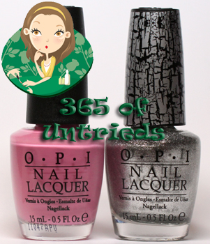 opi sparrow me the drama nail polish and opi silver shatter crackle nail polish