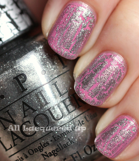 opi sparrow me the drama with silver shatter nail polish swatch opi pirates caribbean stranger tides crackle