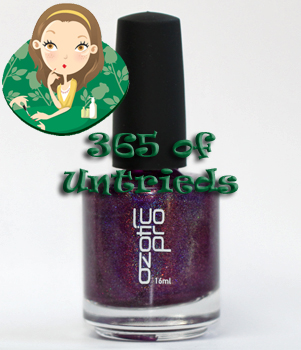 ozotic pro 513 purple holographic nail polish linear holo