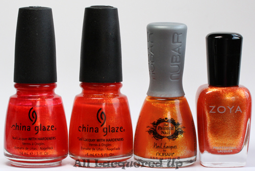 painted nail citrus sparkle nail polish comparison nubar ALUs 365 of Untrieds   The Painted Nail by Nubar Citrus Sparkle