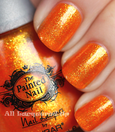 painted nail by nubar citrus sparkle nail polish swatch from the reality show nail files summer 2011