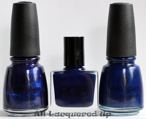 rgb 1996 need supply co nail polish comparison dupe with china glaze up all night and china glaze calypso blue