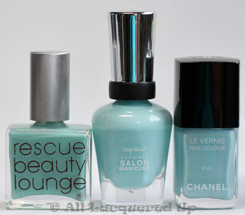 sally hansen barracuda nail polish comparison chanel riva dupe rbl bikini bottom