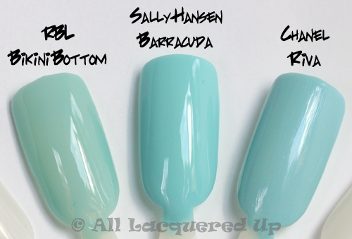sally hansen barracuda nail polish comparison swatch chanel riva dupe