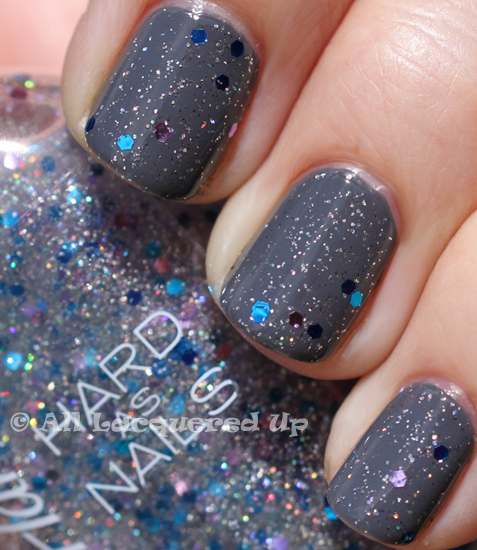 sally hansen ice queen over essence movie star nail polish swatch