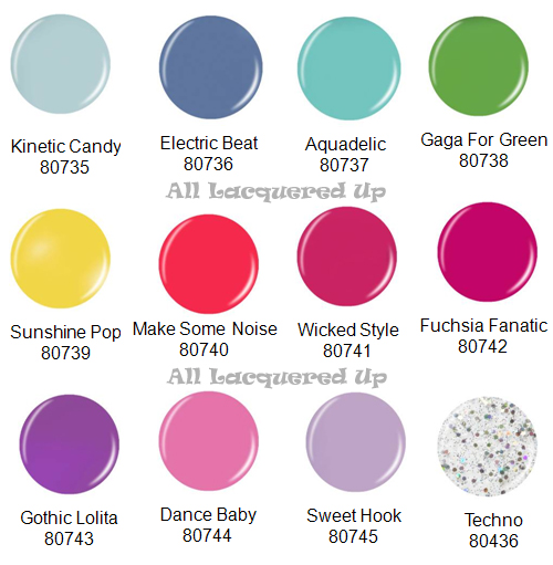 china glaze electropop electro pop spring 2012 nail polish collection