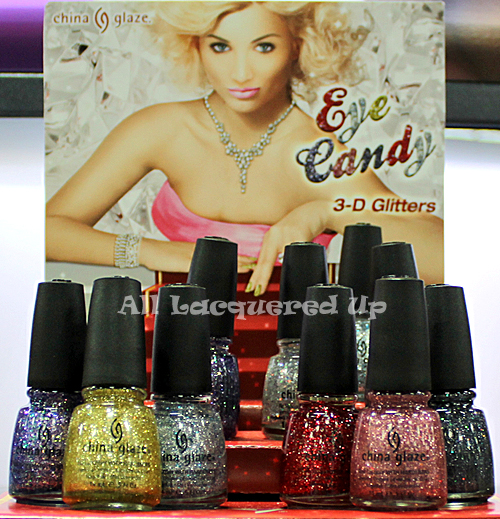 china glaze eye candy 3d glitter nail polish 2011 Scenes from Cosmoprof   Scoping Out China Glaze Holiday 2011 & Spring 2012