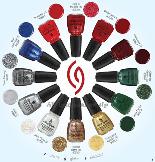 china glaze let it snow holiday 2011 nail polish collection