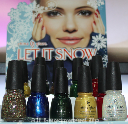 china glaze let it snow nail polish holiday 2011