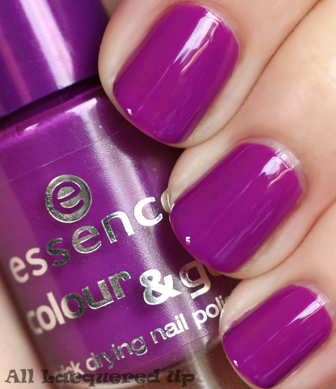 essence break through nail polish swatch purple creme nail polish