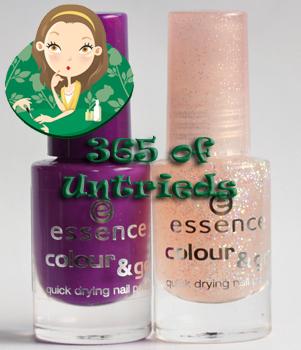 essence break through nail polish and essence space queen nail polish