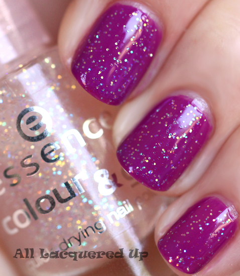 essence space queen break through nail polish swatch glitter ALUs 365 of Untrieds   Essence Break Through & Space Queen