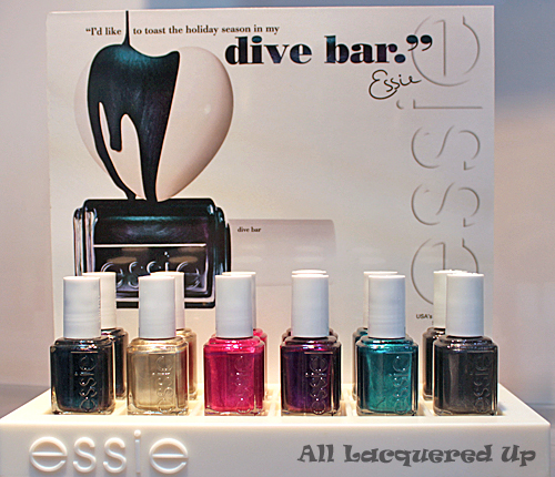 essie dive bar promotion 2011 Scenes from Cosmoprof   A Look At Essie Holiday & Winter 2011