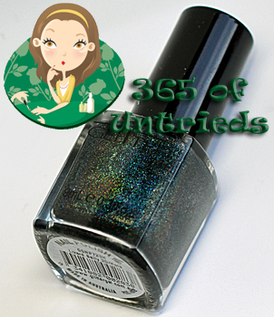 glitter gal lizard belly green linear holographic nail polish