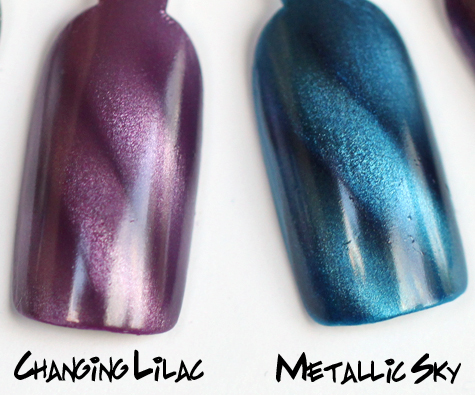 layla changing lilac metallic sky magneffect magnetic nail polish swatch