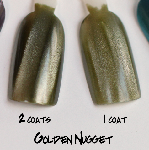 layla golden nugget magneffect magnetic nail polish