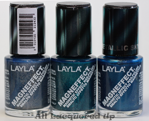 layla magneffect blue gray flow turquoise wave metallic sky LAYLA, youve got me on my knees! Layla Magneffect Magnetic Nail Polish