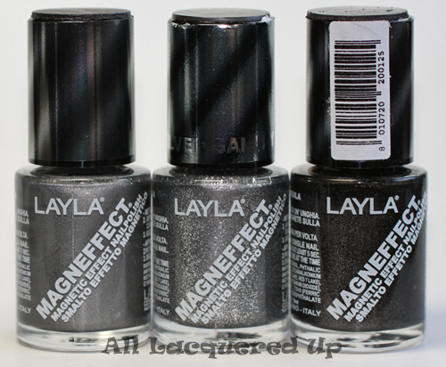 layla magneffect magnetic nail polish gun metal silver galaxy black metal