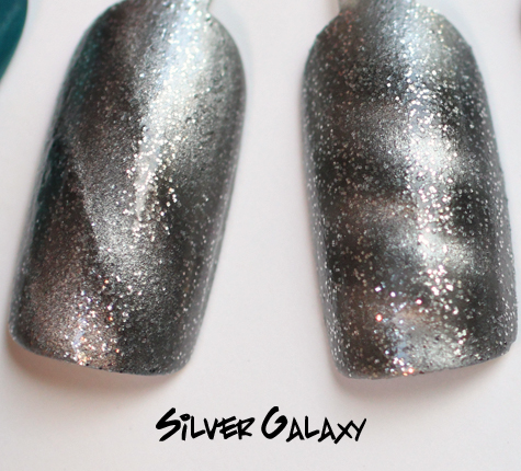 layla silver galaxy magneffect magnetic nail polish swatch