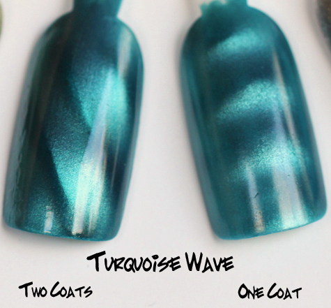 layla turquoise wave magneffect magnetic nail polish swatch