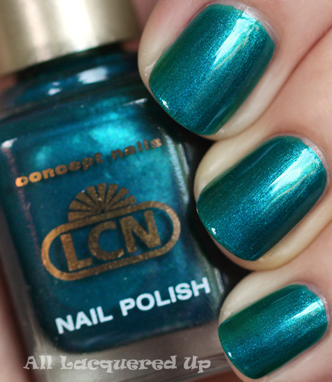 lcn blue laguna nail polish swatch