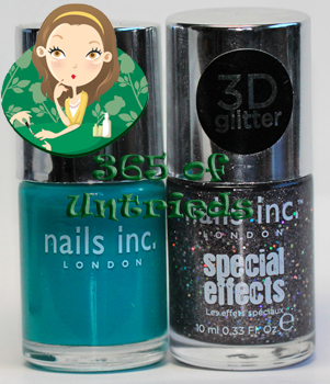 nails inc warwick way sloane square 3d glitter special effects nail polish ALUs 365 of Untrieds   Nails Inc Warwick Way & Sloane Square 3D Glitter