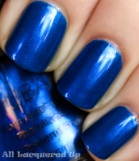 nubar indigo ocean nail polish swatch blue ALUs 365 of Untrieds   Nubar Indigo Ocean Mini sized