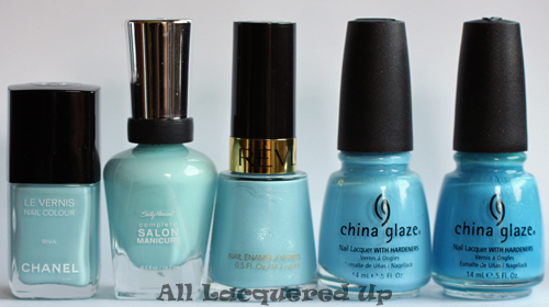 revlon blue lagoon nail polish comparison