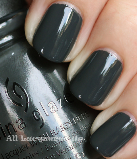china glaze concrete catwalk nail polish swatch fall 2011 nail trend Fall 2011 Nail Polish Trend   Real F*cking Grey Is Back!