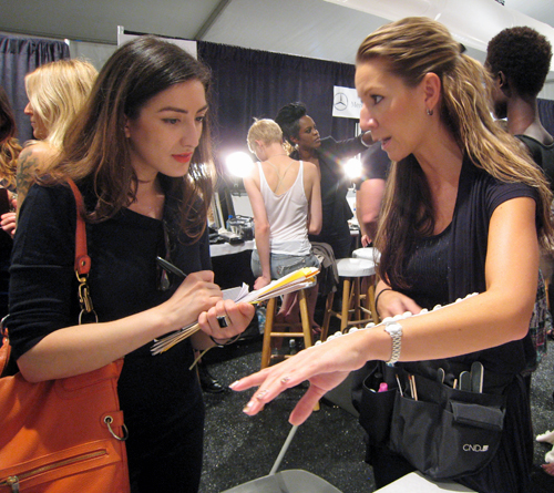 cnd Candice Manacchio joy cioci spring 2012 Behind The Scenes   My Chance to Assist Team CND at Joy Cioci