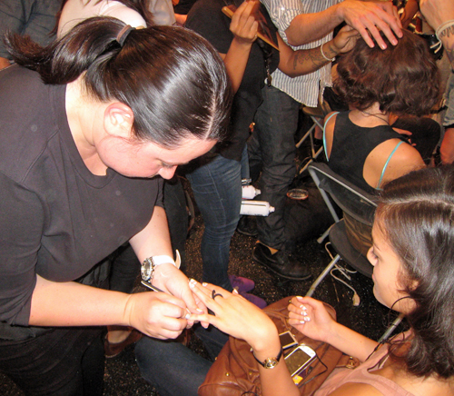 cnd joy cioci backstage lucite lace Behind The Scenes   My Chance to Assist Team CND at Joy Cioci