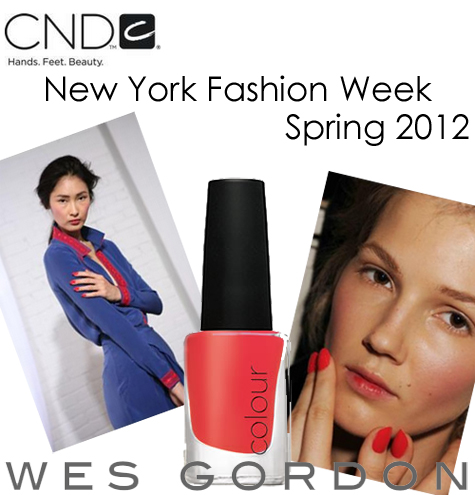 cnd wes gordon nyfw spring 2012 CND at NYFW   Backstage at Wes Gordon Spring 2012