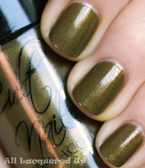 cult nails in a trance nail polish swatch fall 2011 Fall 2011 Nail Polish Trend   Military Greens
