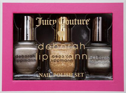 deborah lippmann juicy couture precious metals here comes the queen nail polish for holiday 2011