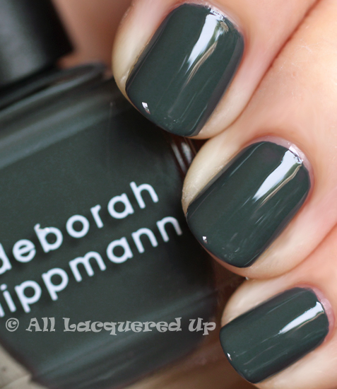 deborah lippmann stormy nail polish swatch fall 2011 nordstrom anniversary Fall 2011 Nail Polish Trend   Real F*cking Grey Is Back!