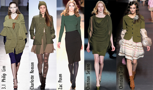 fall 2011 nail color polish trend fatigue military green olive